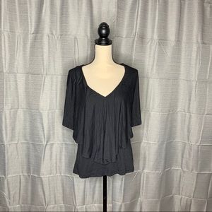 Abound V-Neck Flounce Tee